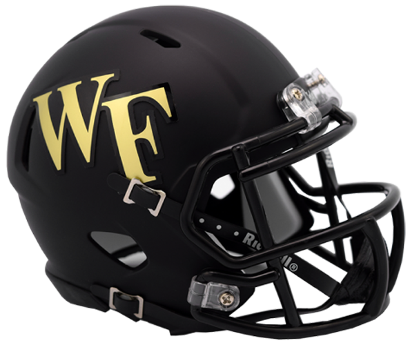 Wake Forest Demon Deacons NCAA Mini Speed Matte Black